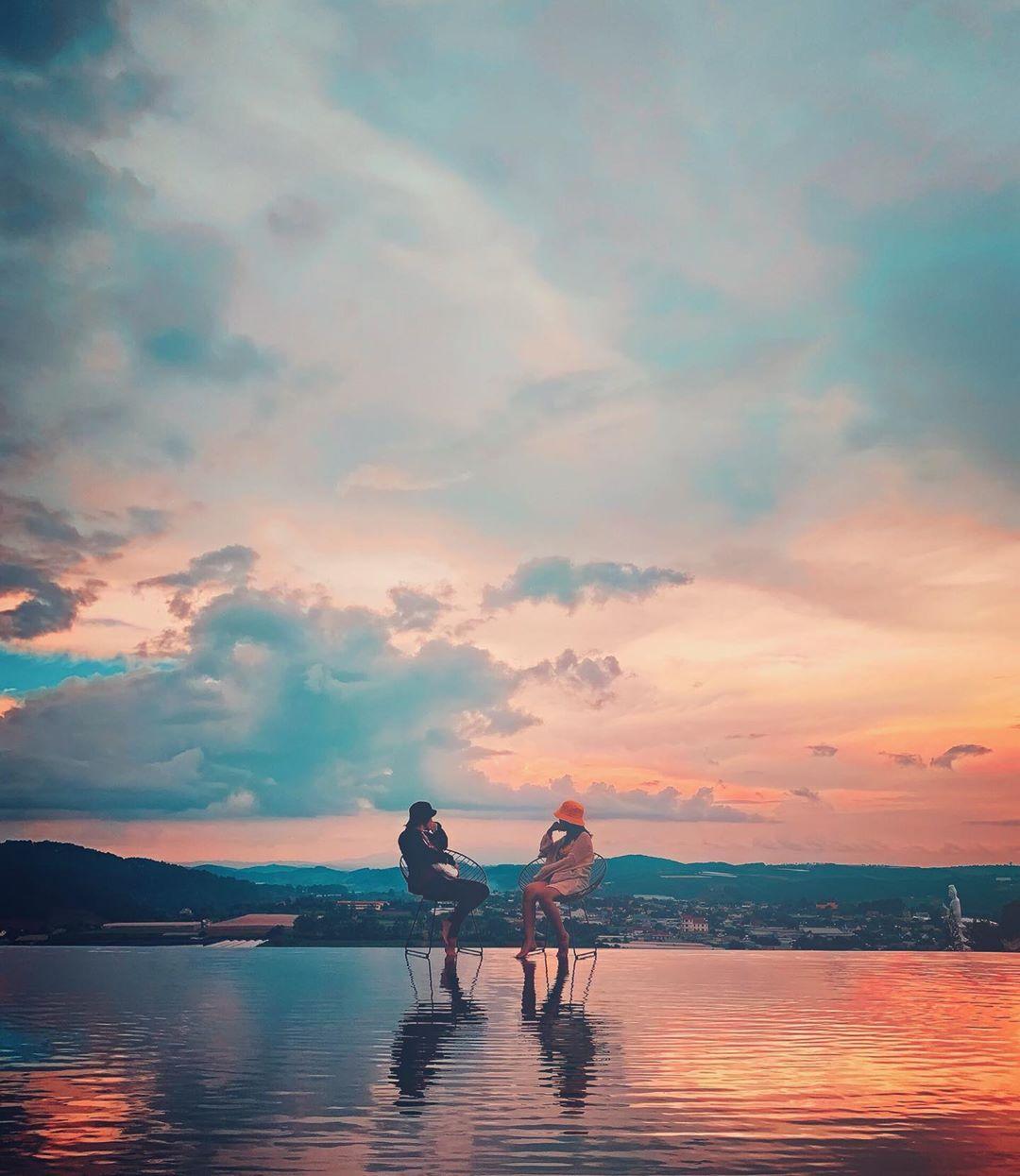 Hồ trên mây đẹp ấn tượng tại Green Hills Đà Lạt