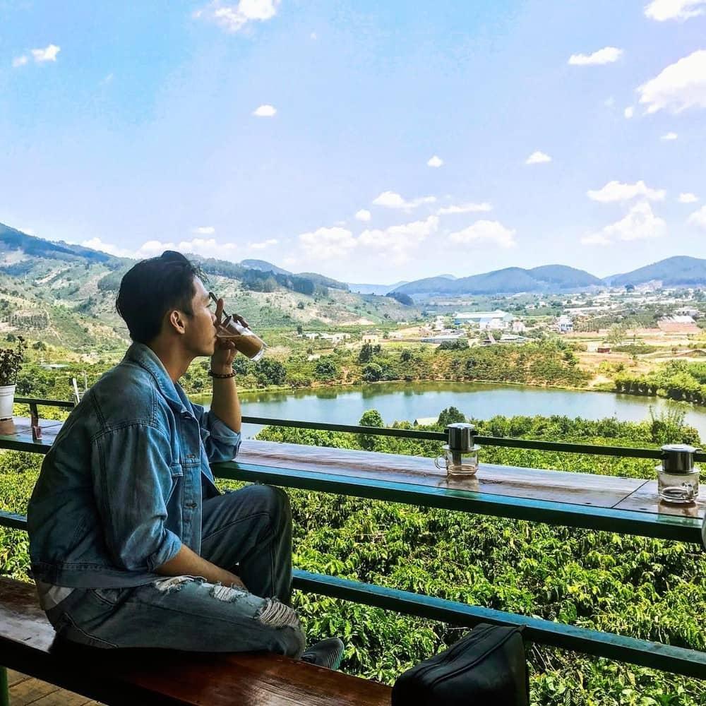 cà phê mê linh tour ngoại thành đà lạt 1 ngày thác voi chùa linh ẩn