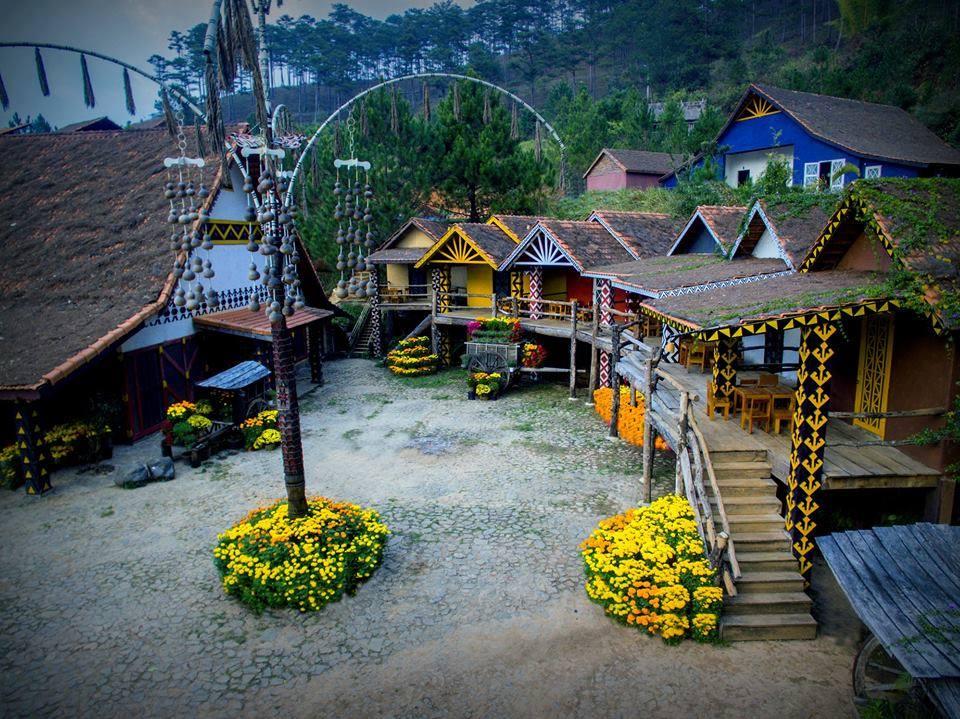 Khu nghỉ dưỡng tại làng Cù Lần Đà Lạt.