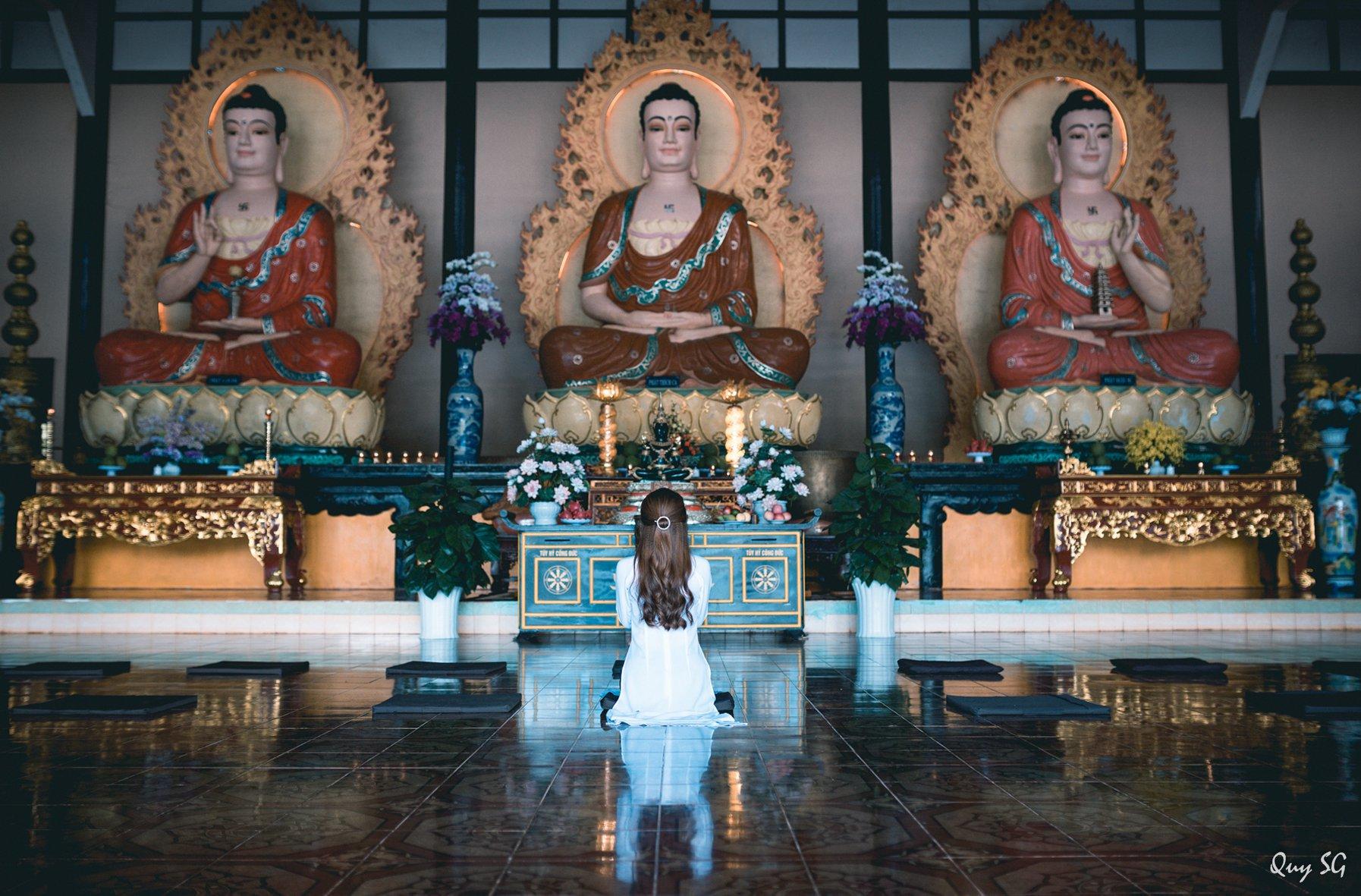 Chánh điện uy nghi tại Linh Ẩn Tự Đà Lạt.