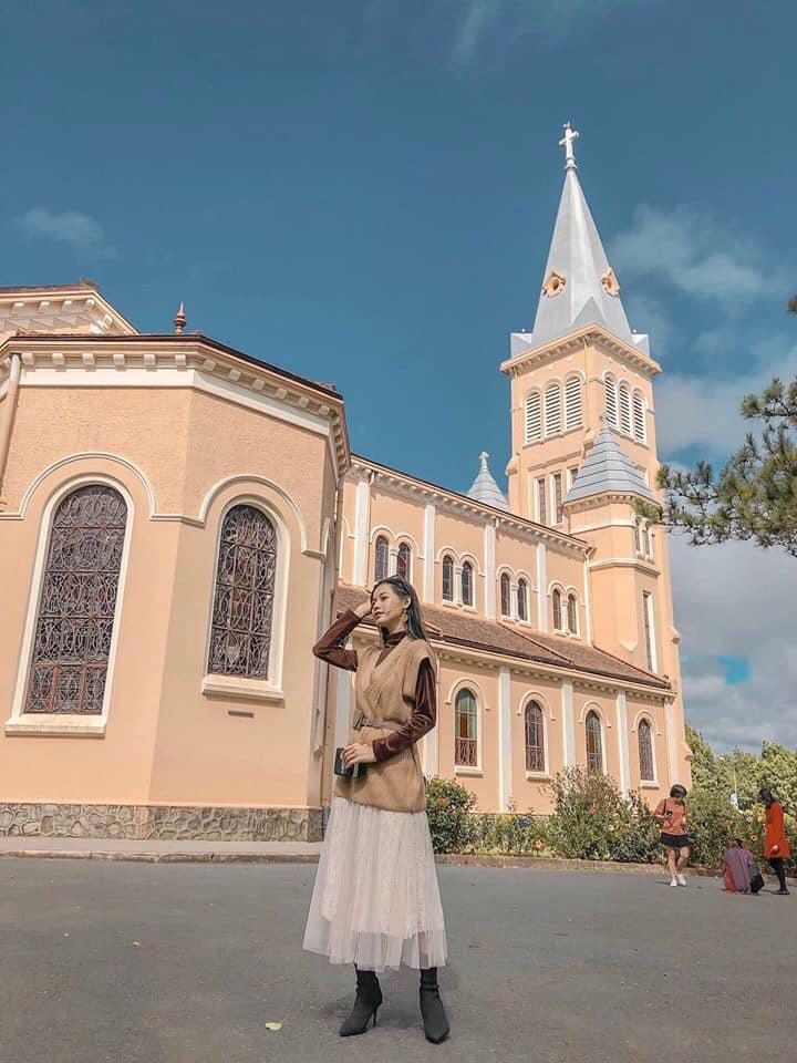 1 góc nhà thờ Chánh Tòa Đà Lạt.