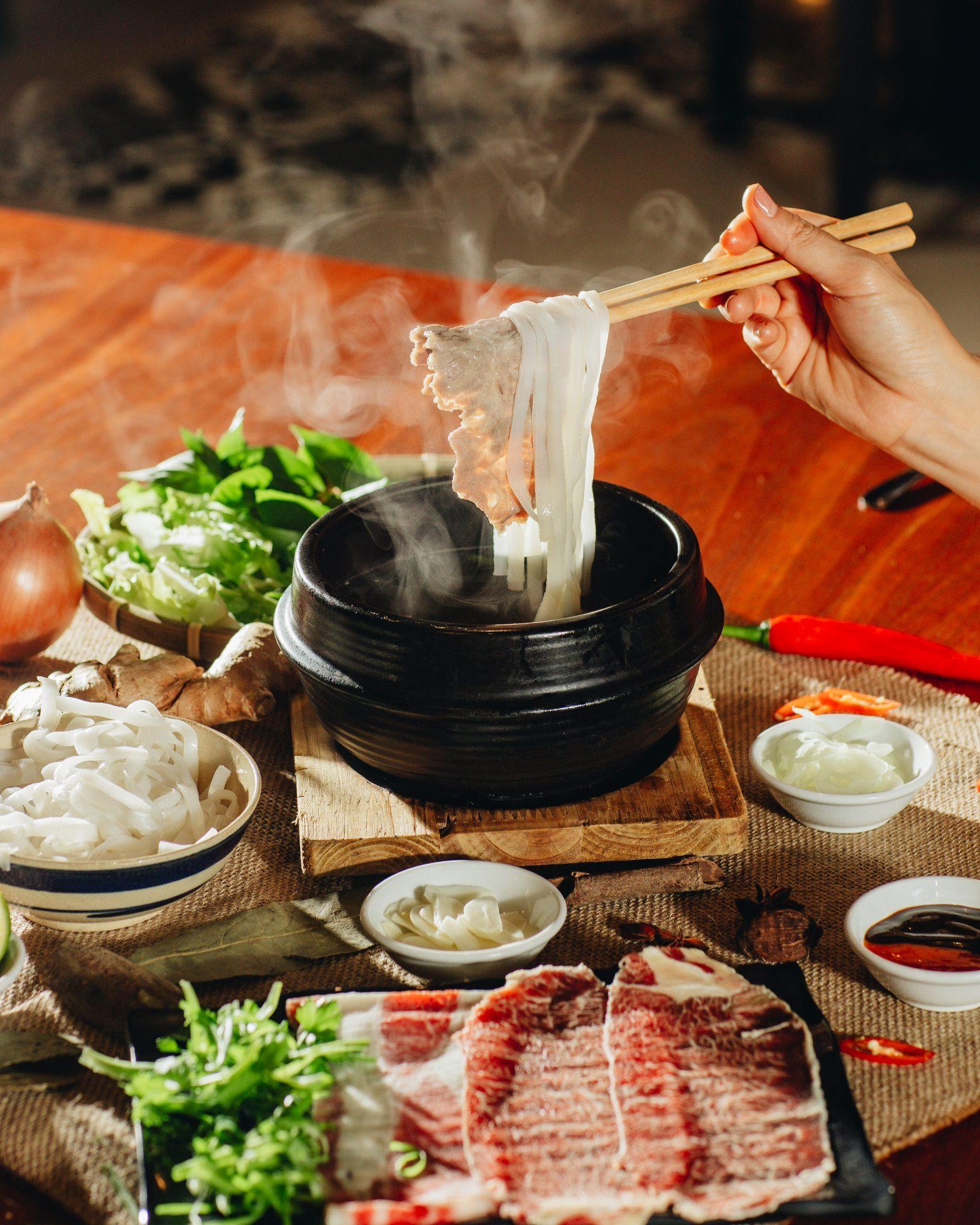 Phở bò Kobe nổi tiếng tại Món ngon Đà Lạt.