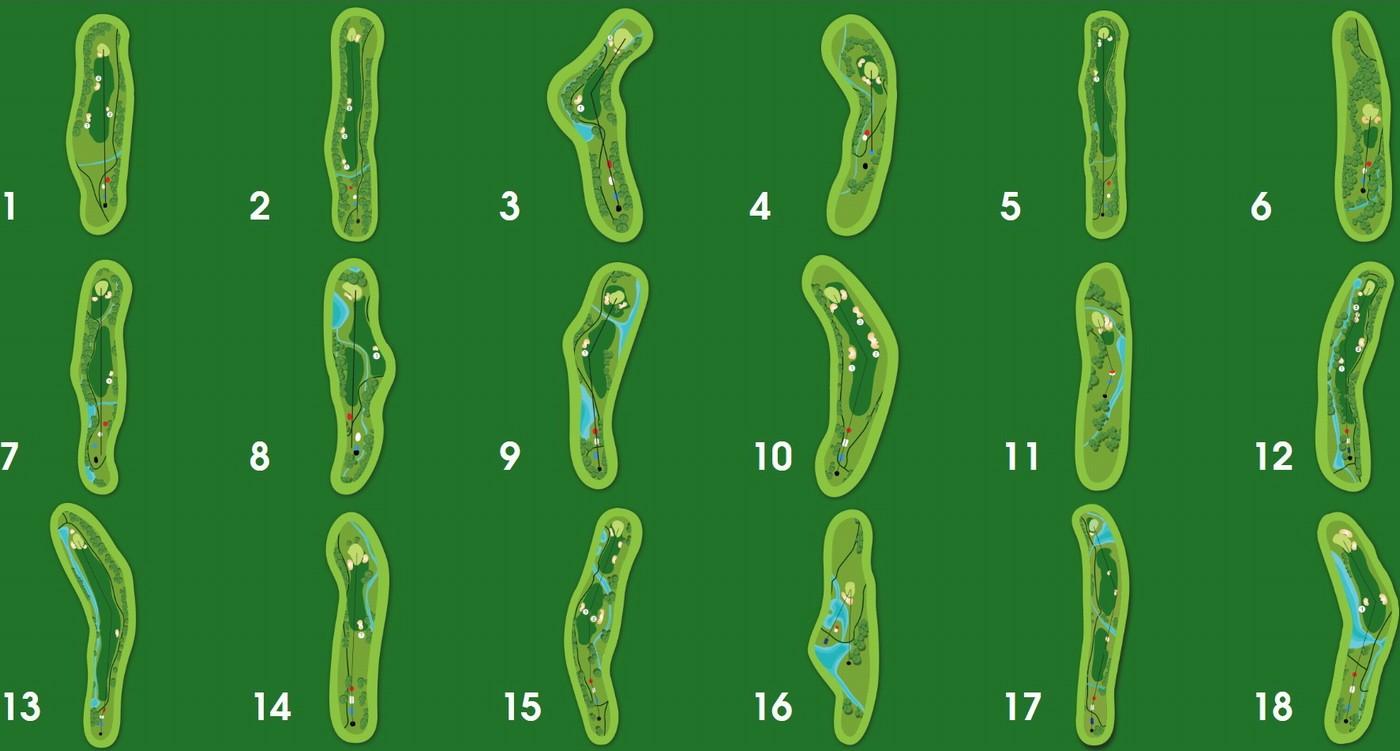 Bản đồ sân golf Đà Lạt Sam Tuyền Lâm.