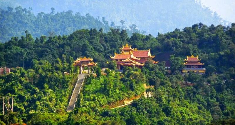 Thiền viện Trúc Lâm Đà Lạt từ trên cao.