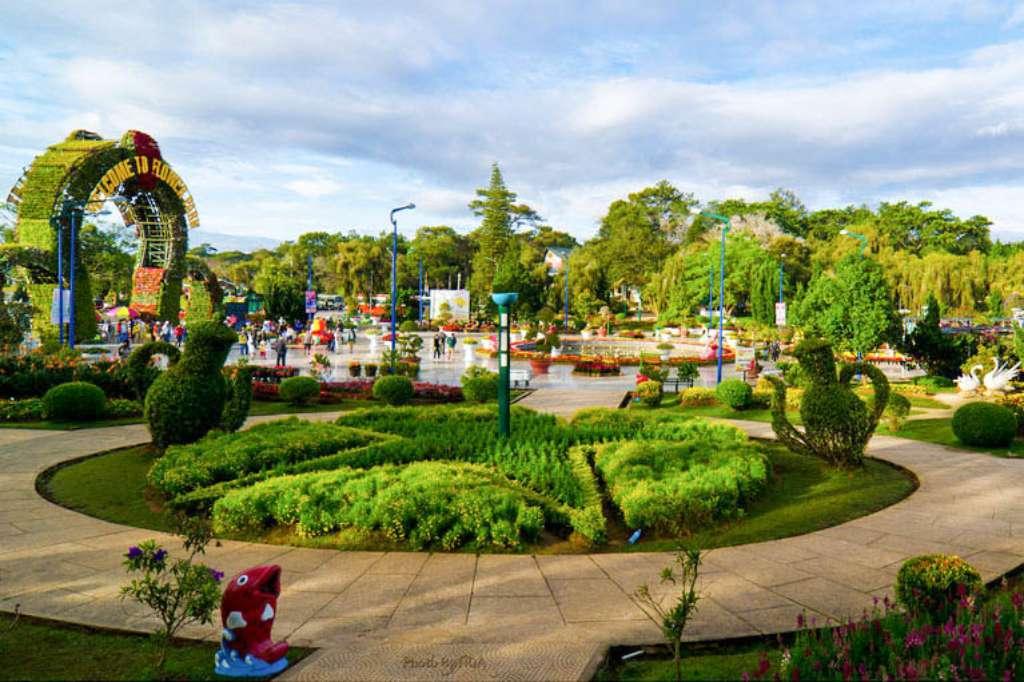 1 góc vườn hoa thành phố Đà Lạt.