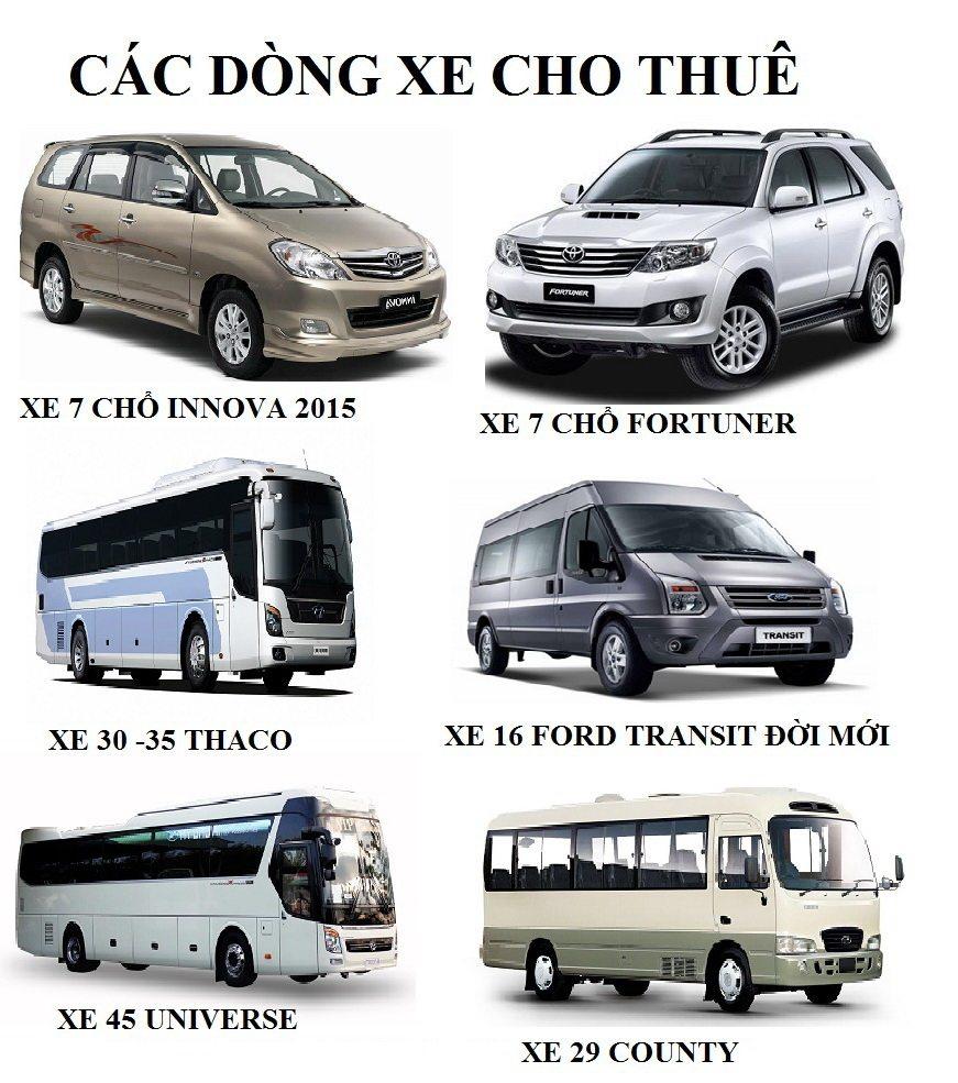 Bảng giá cho thuê xe ô tô Đà Lạt đời mới - Tour du lịch Đà Lạt - TA travel